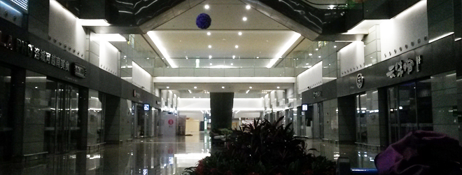 上海虹橋空港で空港泊@中国2018