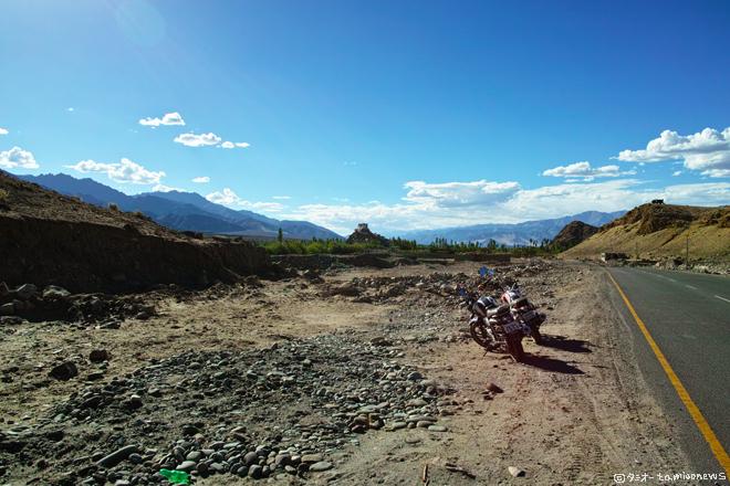 バイク旅 パンゴン湖