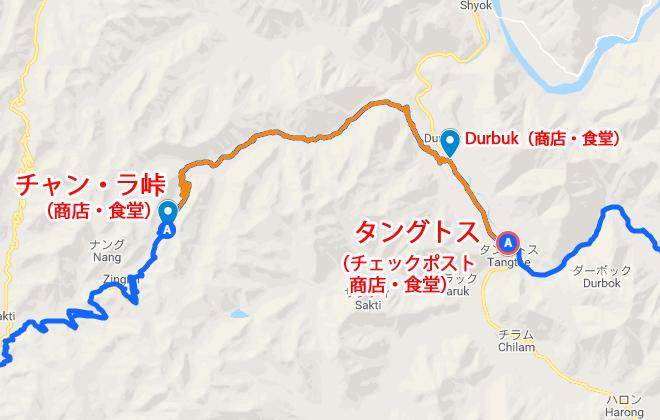 パンゴン湖 地図