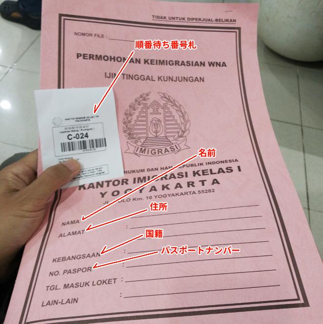 申請用紙のカバー