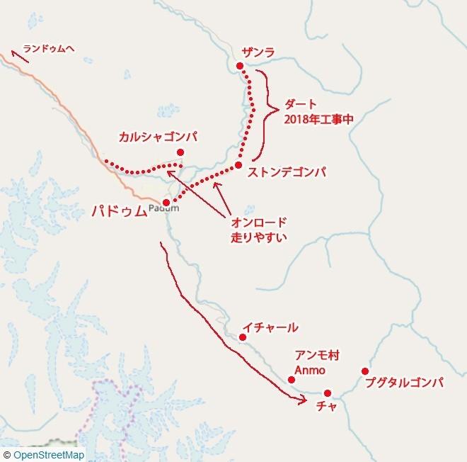 地図 ザンスカール